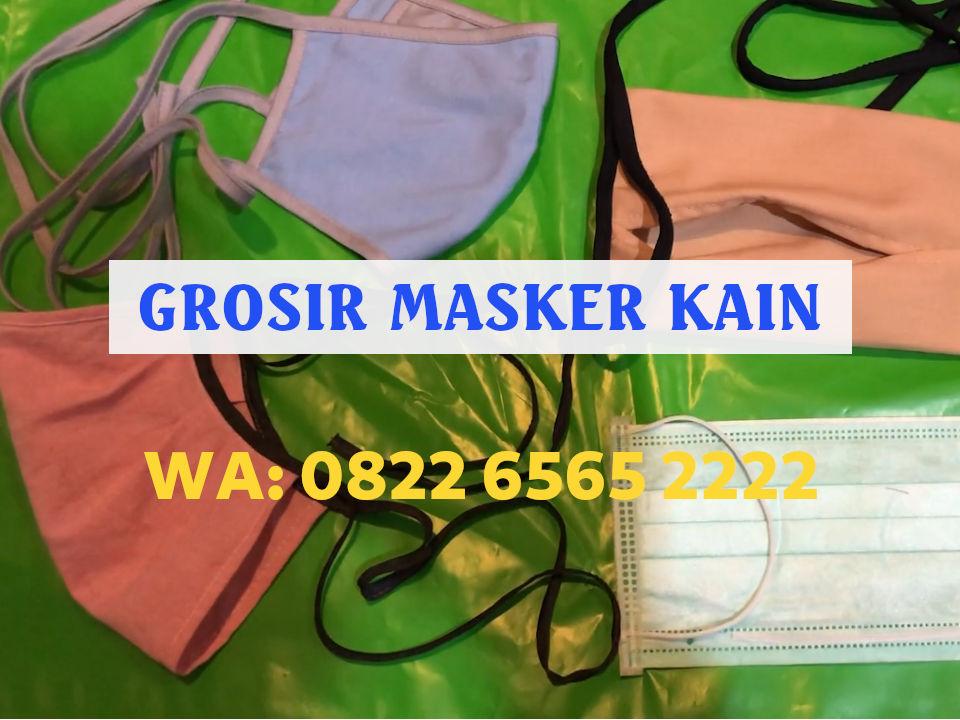 Grosir Masker Kain Jakarta Masker Tali Hijab Hanya Rp2.500/pcs