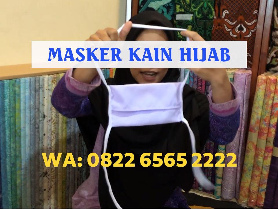 Konveksi Masker Kain Hijab Headloop Tali Panjang Harga Grosir Rp3.500 per pcs