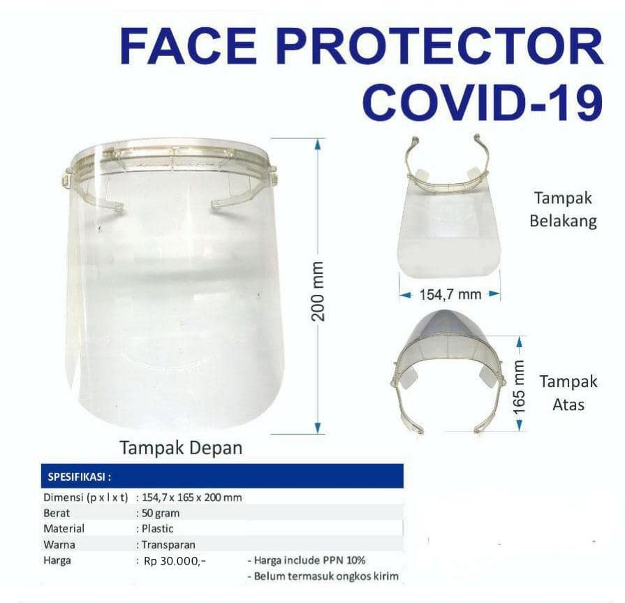 Face Shield Face Protector Covid-19 termurah, WA: 0822-6565-2222